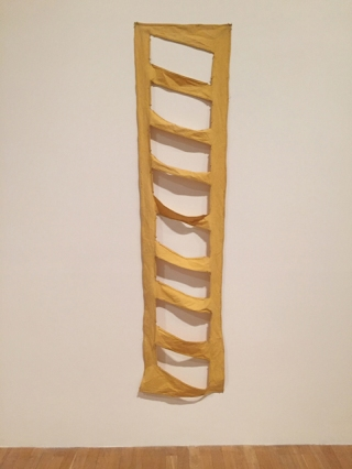 'Ladder Piece', 1967, dyed and cut canvas. ©Richard Tuttle