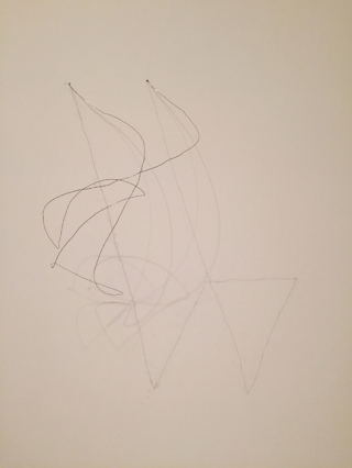 'Wire Piece', 1971- 72. Made on site. ©Richard Tuttle