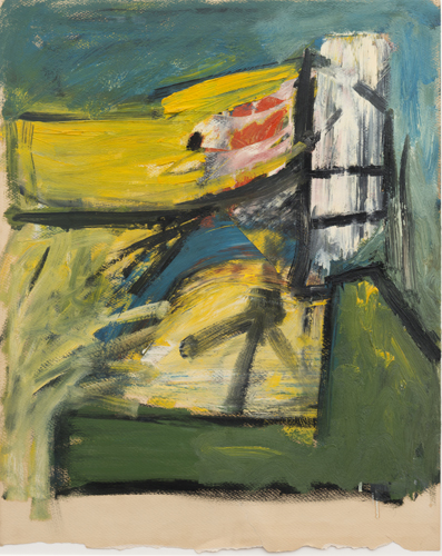 untitled, c.1950's, oil on paper, 25 x 20 inches