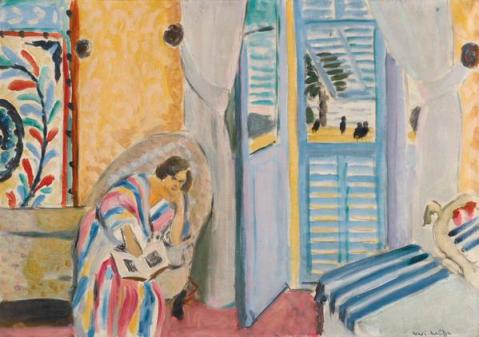 Henri Matisse, Interior at Nice, Woman Seated with a Book, 1919