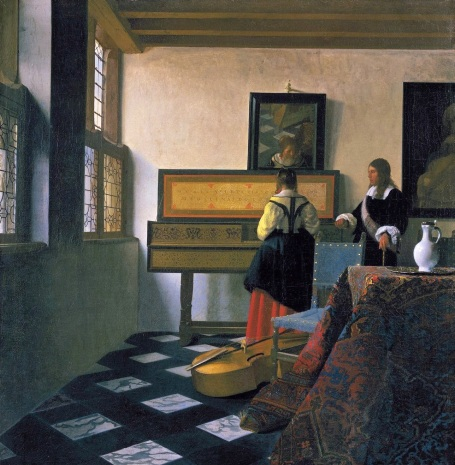 Johannes Vermeer, The Music Lesson, 1662-65, oil on canvas