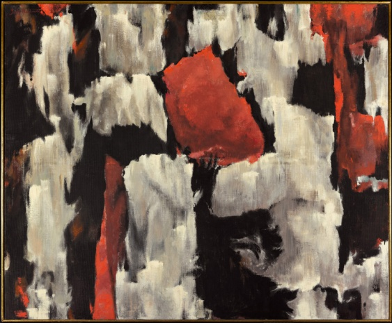 "Jock Macdonald, ""Fleeting Breath"", 1959,  oil and acrylic resin on canvas, 122.2 x 149.2 cm, Art Gallery of Ontario, purchased with the Canada Council Joint Purchase Award"
