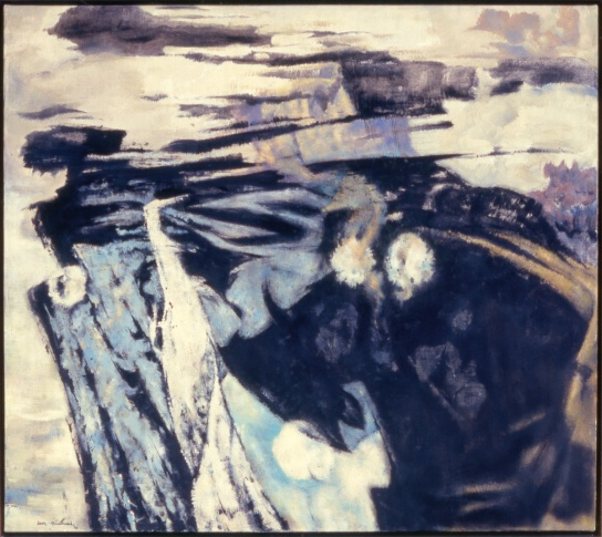 Jock Macdonald, Elemental Fury, 1960, oil and Lucite 44 on canvas, 120.8 x 136.7 cm, Montreal Museum of Fine Arts, purchase Horsley and Annie Townsend Bequest, Photo Christine Guest