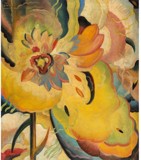 "Jock Macdonald, ""Formative Colour Activity"", 1934, oil on canvas, 77 x 66.4 cm, National Gallery of Canada"