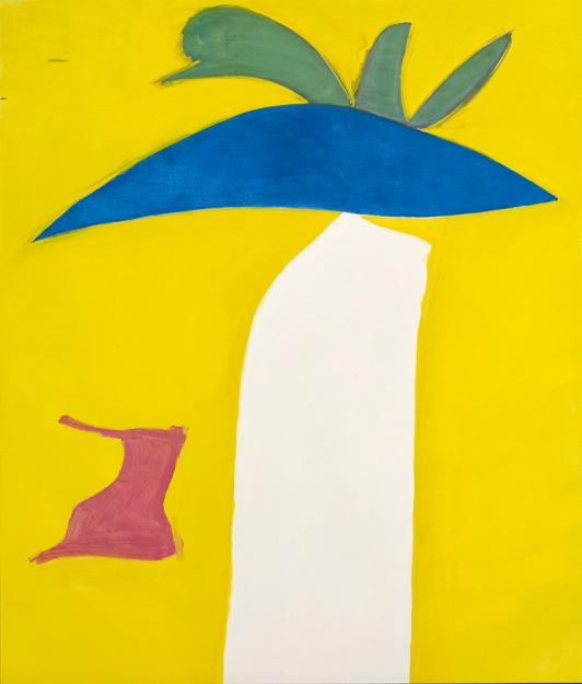 "Jack Bush, ""Bonnet"", 21–22 May 1961, oil on canvas, 246.3 x 209.2 cm (97 x 82.38 in.); Private Collection; © Estate of Jack Bush / SODRAC (2014); Photo: Michael Cullen,TPG Digital Art Services"