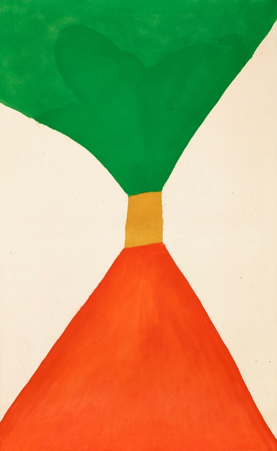 "Jack Bush, ""Tight Sash"", July 1963, oil on canvas, 108.6 × 176.5 cm (42.75 × 69.5 in.), Collection of Elizabeth A. and Richard J. Currie, © Estate of Jack Bush / SODRAC (2014), Photo: Michael Cullen, TPG Digital Art Services"