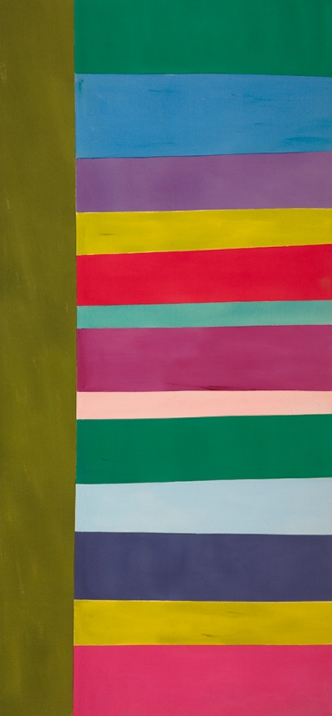 "Jack Bush, ""Tall Spread"", June 1966, acrylic on canvas, 271.7 × 152.4 cm (107 × 60 in.), National Gallery of Canada, Ottawa, © Estate of Jack Bush / SODRAC (2014), Photo © NGC"