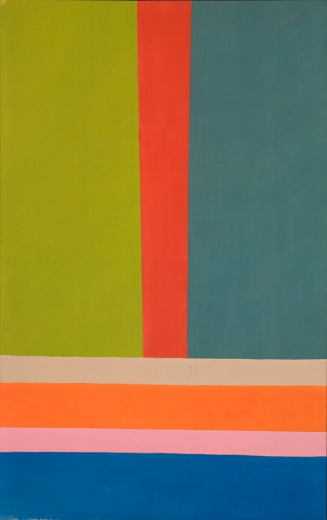 "Jack Bush, ""Big A"", November 1968, acrylic on canvas, 228.6 × 144.7 cm (90 × 57 in.), National Gallery of Canada, © Estate of Jack Bush / SODRAC (2014), Photo © NGC"