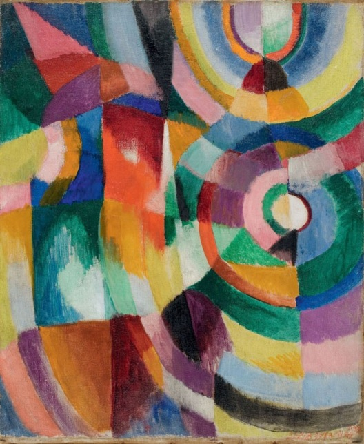 "Sonia Delaunay, ""Electric Prisms"", 1913, Davis Museum at Wellesley College, Wellesley, MA, Gift of Mr. Theodore Racoosin. © Pracusa 2014083"
