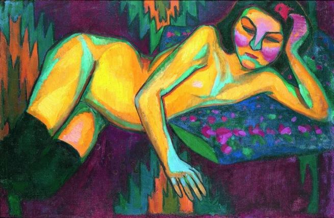 "Sonia Delaunay, ""Yellow Nude"", 1908, Musée des Beaux-Arts de Nantes, Nantes, © Pracusa 2014083"