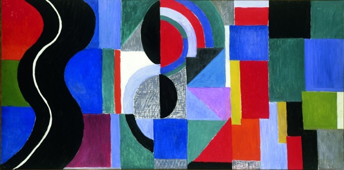 "Sonia Delaunay, ""Syncopated Rhythm"", also-called ""The Black Snake"", 1967, Musée des Beaux-Arts, Nantes, France. © Pracusa 2014083"