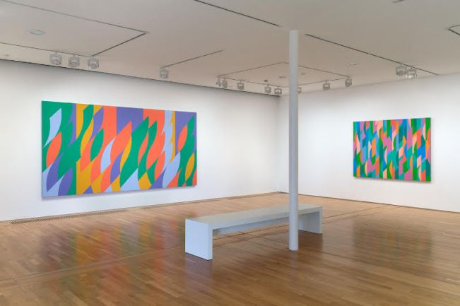 Bridget Riley, The Curve Paintings 1961-2014 installation at DLWP. © Bridget Riley 2015. All rights reserved, courtesy Karsten Schubert, London