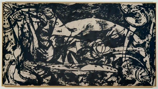 Jackson Pollock 1912-1956 'Number 14', 1951, Oil paint on canvas support: 1465 x 2695 mm frame: 1493 x 2721 x 63 mm © The Pollock-Krasner Foundation ARS, NY and DACS, London 2015.