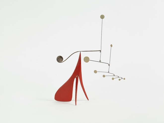 Alexander Calder, untitled, c. 1952, sheet metal, brass, wire, and paint, 13 3/8 x 11 x 6 1/4 inches (34 x 27.9 x 15.9 cm); © 2015 Calder Foundation, New York / Artists Rights Society (ARS), New York; Photo: Tom Powel Imaging, Inc. Courtesy: Dominique Lévy Gallery, New York and London