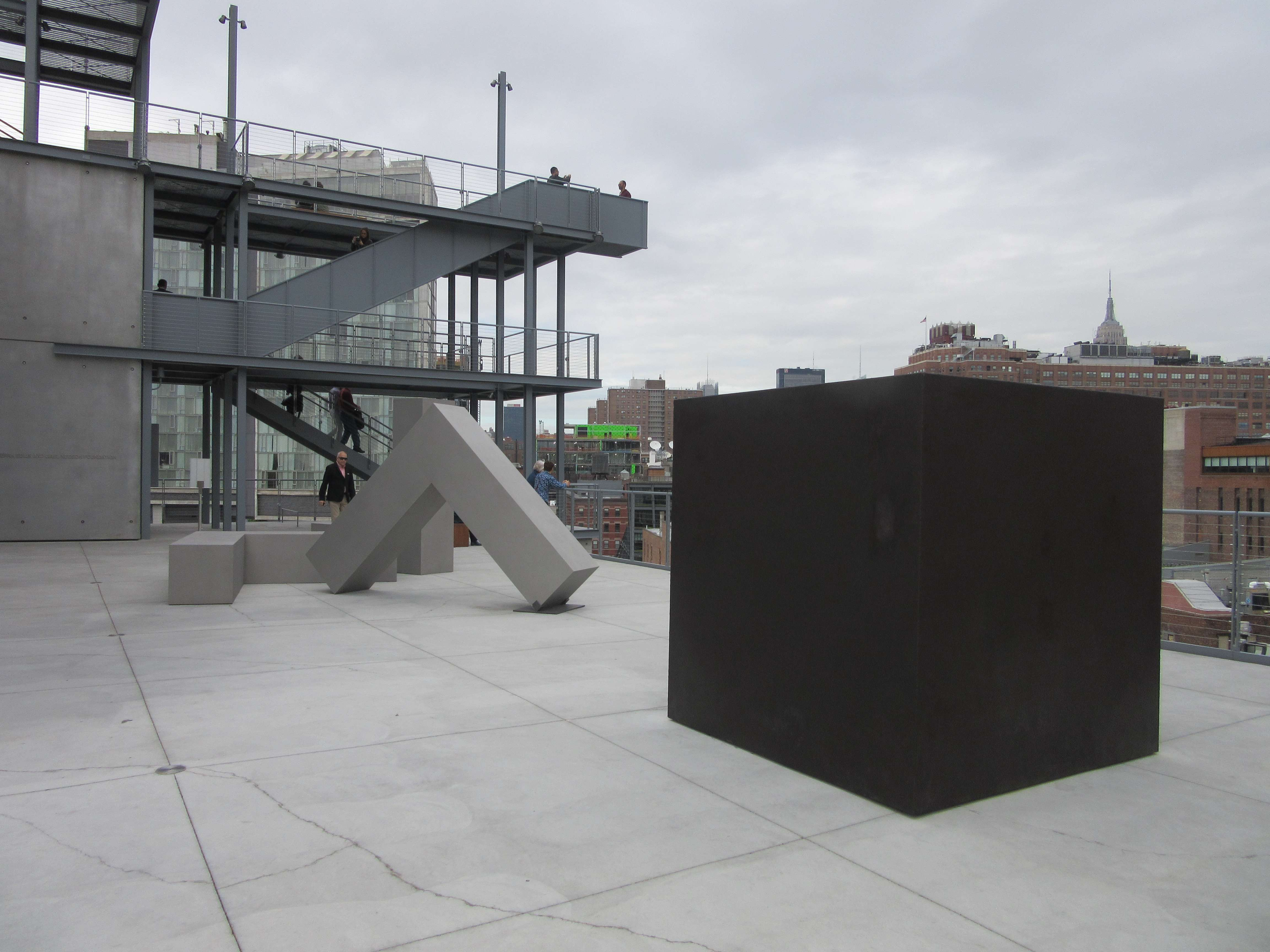 View Of The Sixth Floor Whitney Terrace With Die By Tony Smith, 1962,