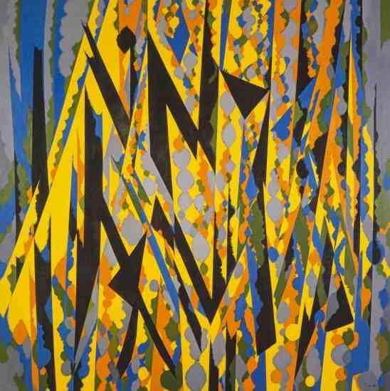 William Gear, 'Broken Yellow',1967. Copyright the Artist's Estate. Scottish National Gallery of Modern Art