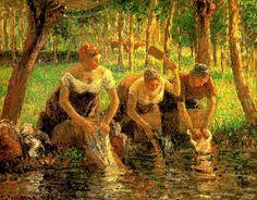 "Camille Pissarro, ""Laundring Women. Eragny sur Eptes"", 1895"
