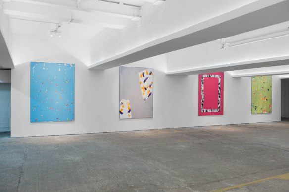 Dennis Loesch, installation at PM/AM Gallery, photo Erik Saeter Joergensen.