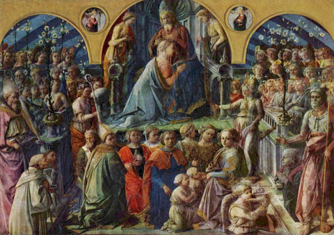 "Fra Filippo Lippi, ""Coronation of the Virgin"", 1447"