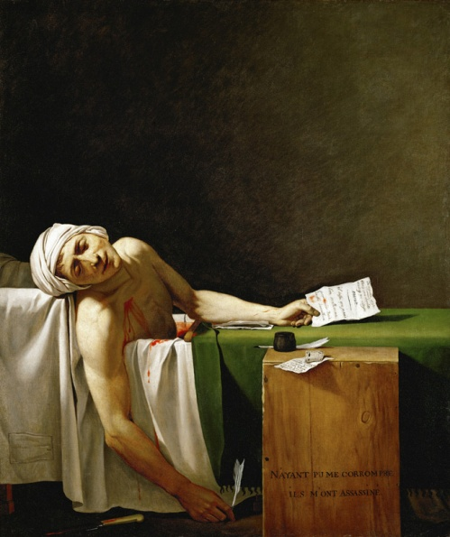 "Jacques-Louis David, ""The Death of Marat"", 1793."