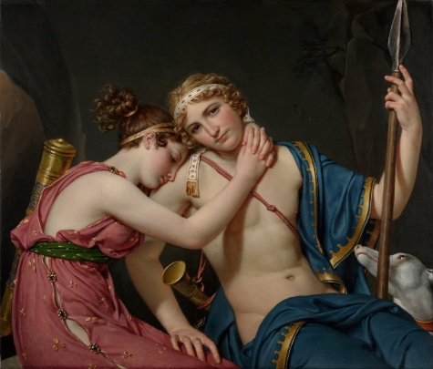"Jacques-Louis David , ""The Farewell of Telemachus and Eucharis"", 1818."