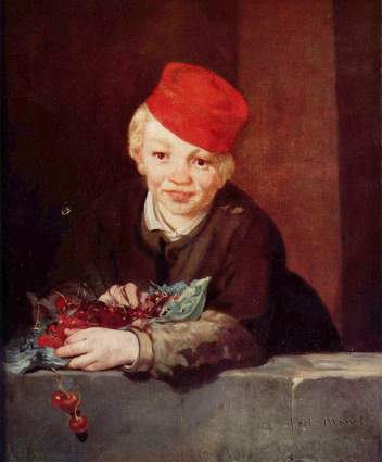 "Edouard Manet, ""The Boy with Cherries"","