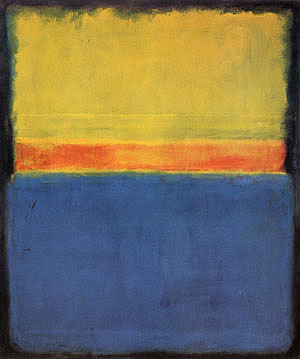 "Mark Rothko, ""No 2 Blue Red and Green Yellow Red Blue on Blue"", 1953."