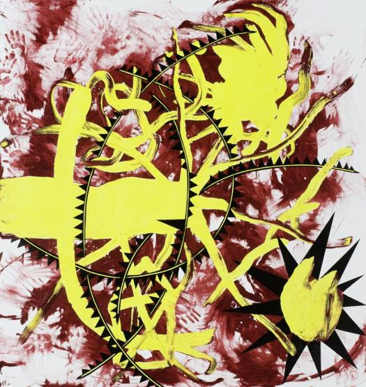 "Charline von Heyl, ""Alastor"", 2008, acrylic on linen"