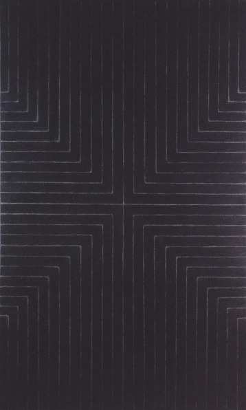 "Frank Stella, ""Die Fahne Hoch!"", 1959, enamel paint on canvas"