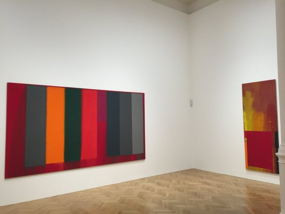 Installation shot at Pace London, works by Hoyland. The work on the left perhaps the best thing in the show.