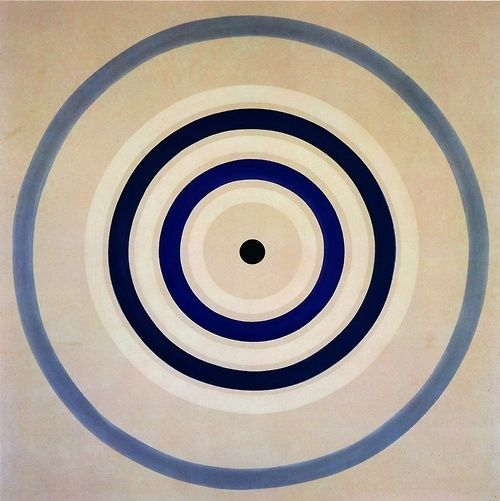 "Kenneth Noland, ""Spring Cool"", 1962, acrylic resin on canvas 96 x 96 inches, courtesy Harry N. Abrams, Inc., New York, N.Y."