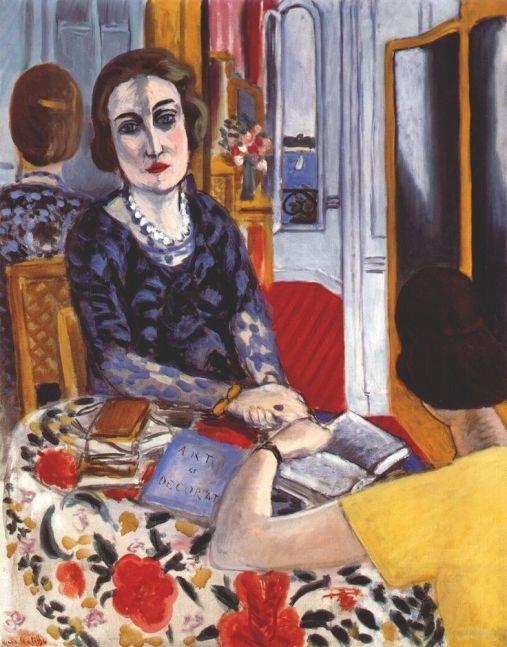 "Henri Matisse, ""Baroness Gourgaud"", 1924, Musee National D'Art Moderne, Paris."
