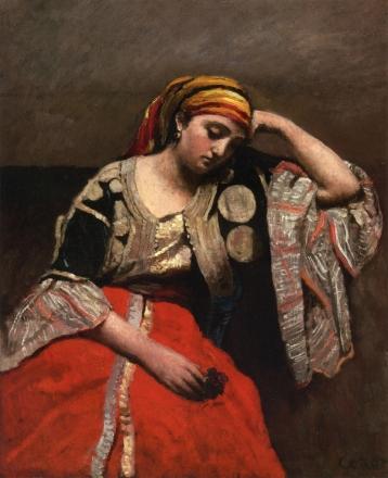 "Camille Corot, ""Jewish-Algerian Woman"", 1870."