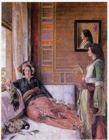"John Frederick Lewis, ""Hhareem Life, Constantinople "",1857."