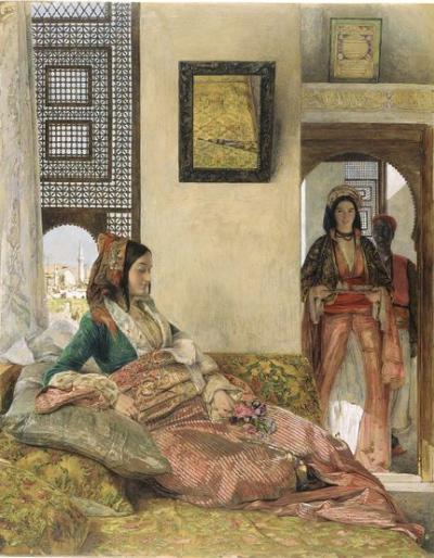 "John Frederick Lewis, ""Life in the Harem"", 1858."