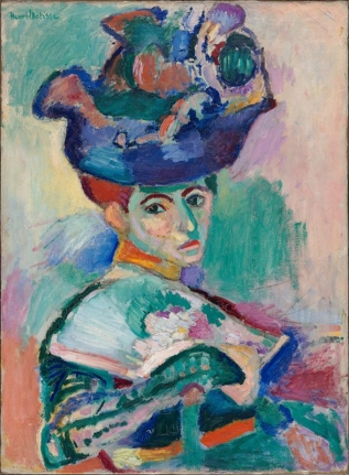 "Henri Matisse, ""Woman with a Hat"", 1905, San Francisco Museum of Modern Art"