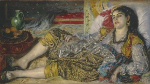"Pierre-Auguste Renoir, ""Odalisque"", 1870, National Gallery of Art, Washington."