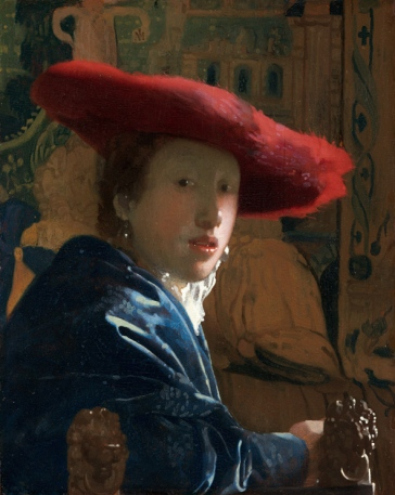 "Vermeer, ""Girl with a Red Hat"", 1665-66, National Gallery of Art, Washington."