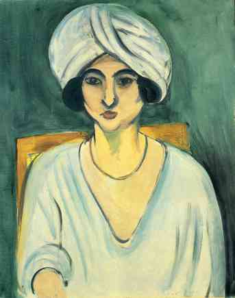 "Henti Matisse, ""Woman in a Turban"", 1917, Baltimore Museum of Art."