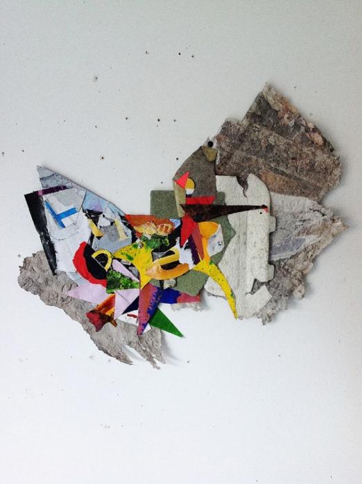 Invriko. 2015. Mixed media shaped collage. 52cmX60cm