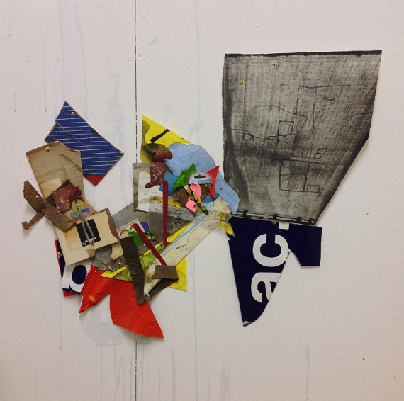 John Bunker, 'Old Roan', 2015. 70cmx85cm, mixed media shaped collage.