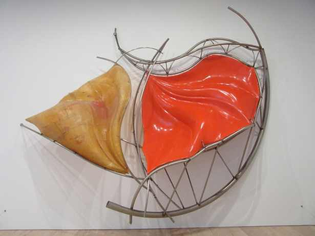 "Frank Stella, ""Redjang"", 2009. Fiberglass with stainless steel tubing. 155 x 212 x 64 in. (393.7 x 538.5 x 162.6 cm). Private collection. (c) 2015 Frank Stella/Artists Rights Society (ARS), New York. Photo Ken Carpenter"