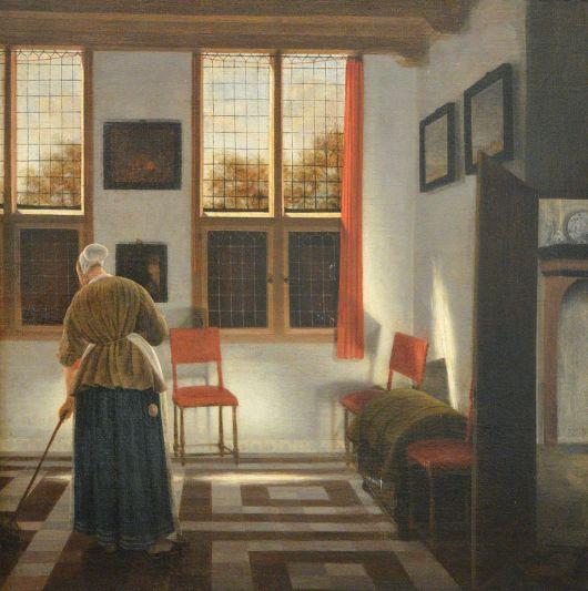 "Pieter Janssens Elinga, ""La Balayeuse"", 1668-1672"