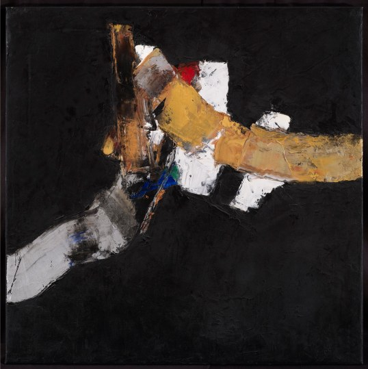 """Black Space 21"", 2014, oil on canvas, 73.7x73.7cm"