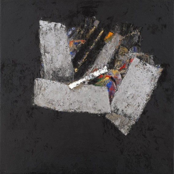"""Black Space 24"", 2015, oil on canvas, 50x50cm"