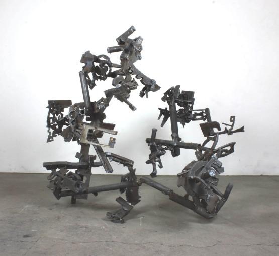"Robin Greenwood, ""Habia Rubica"", 2016, steel"