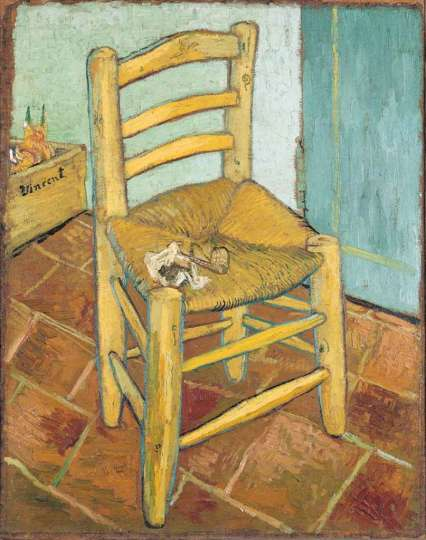 """Van Gogh, """"Van Gogh's Chair"""", 1888, National Gallery, London"""