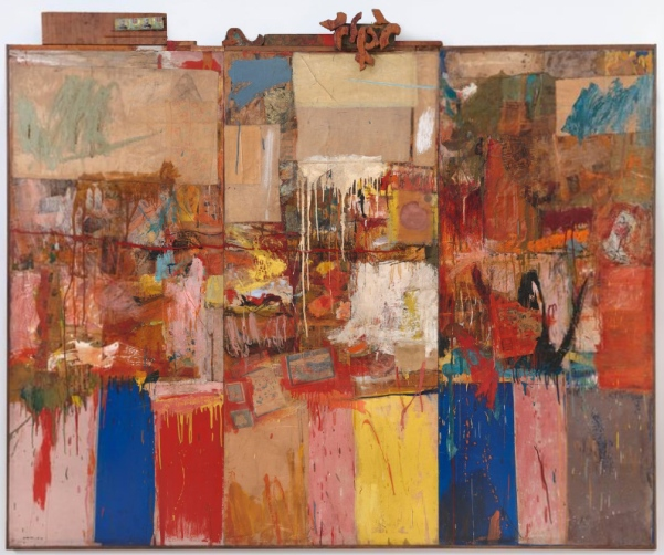 "Robert Rauschenberg, ""Collection"", 1954-55, SFMOMA"