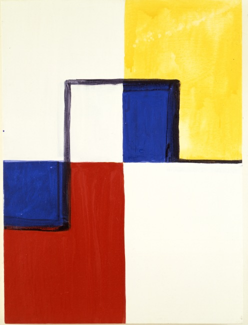"""Little Mondrian"", 1985, acrylic and watercolour on canvas, 76.2x55.8cm, ©Mary Heilmann; Photo credit: Pat Hearn Gallery, Courtesy of the artist, 303 Gallery, New York, and Hauser & Wirth"