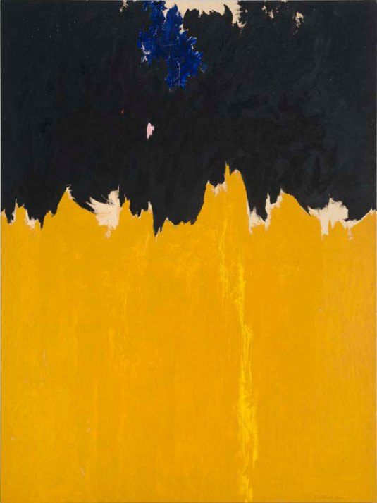 "Clyfford Still, ""PH-950"", 1950, oil on canvas, 233.7x177.8cm. Clyfford Still Museum, Denver © City and County of Denver / DACS 2016 Photo courtesy the Clyfford Still Museum, Denver, CO Photo: Courtesy of the Clyfford Still Museum, Denver, CO © City and County of Denver."